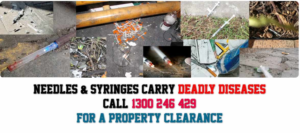 Needle and Syringe Clearance Clean Up and Removal Abermain