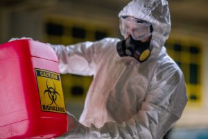 Biohazard Cleaning in hazmat